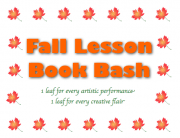 Fall Lesson Book Bash Punch Card