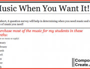 Music When You Want It Survey