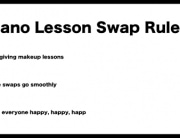 piano lesson swap list rules