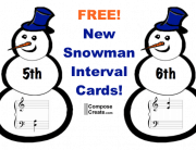 Snowman interval cards