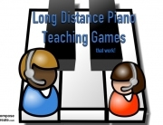 long distance piano teaching games