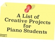 Creative projects for piano students
