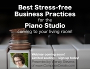 Best Stress free Business Practices for the Piano Music Teacher