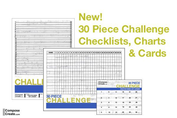 30 and 40 Piece Challenge – New Charts, Cards, and Checklists!