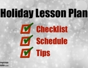 Free holiday lesson plan schedule