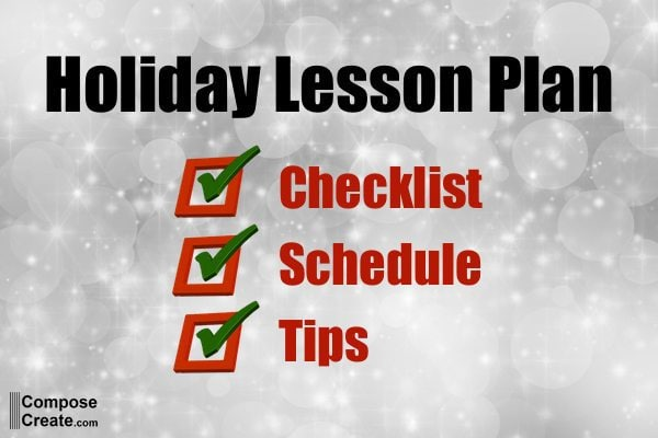 Here's Your Schedule and Final Tips- Holiday Lesson Plan – Item #5