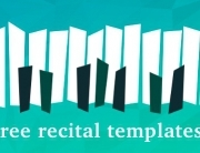 Free recital templates