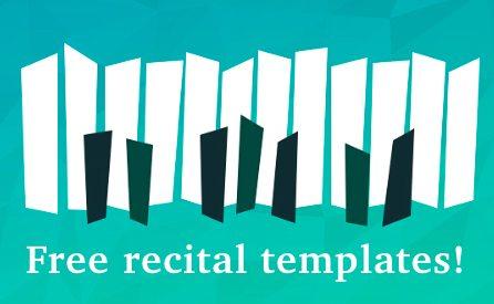 Free recital templates