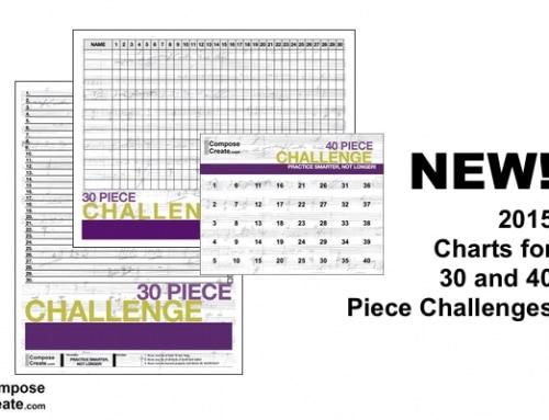 New 2015 Challenge Charts! 30 and 40 Piece Challenge!