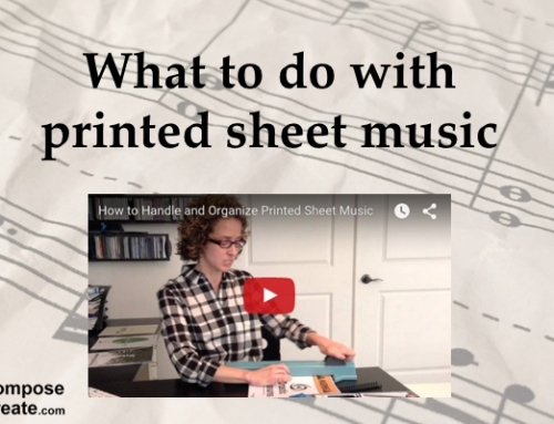 How to Store and Preserve Printed Music – Plus FREE covers!