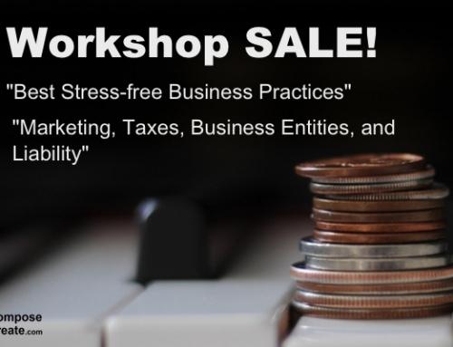 Piano Teaching Workshop SALE – Thanksgiving Black Friday Week!