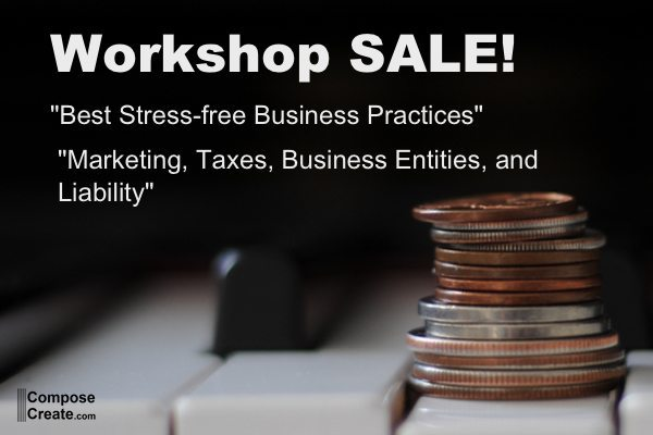 Business piano teaching workshop sale