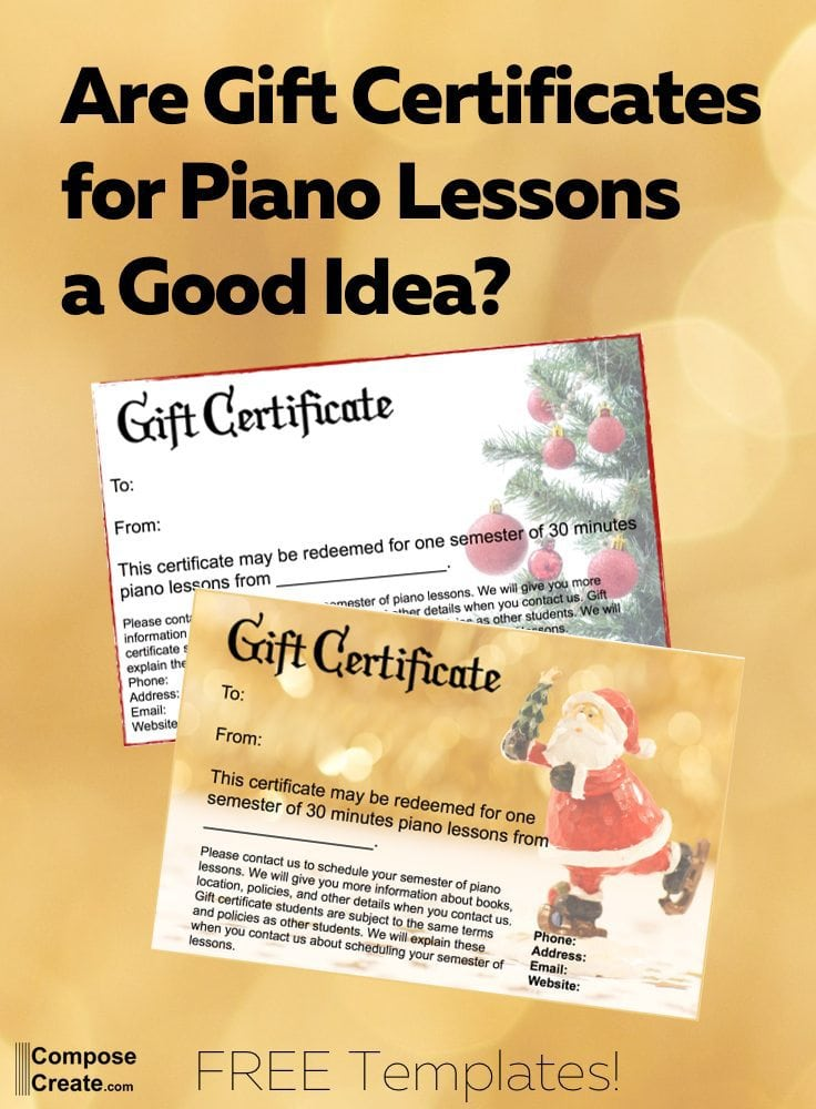 Are Gift Certificates for Piano Lessons a Good Idea?